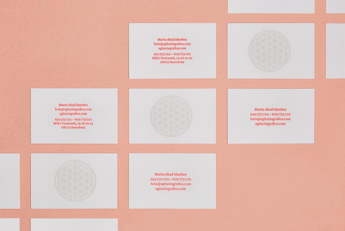 Tarjeta, business card, Marta Abad, Agitació Gràfica, geometria sagrada, sacred geometry